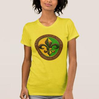 Camiseta Flor de lis feliz do carnaval