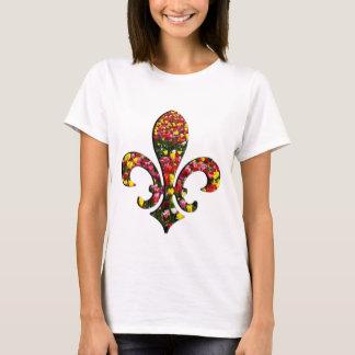 Camiseta Flor de lis Orleans das tulipas da flor do jardim