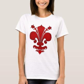 Camiseta Flor de lis vermelha