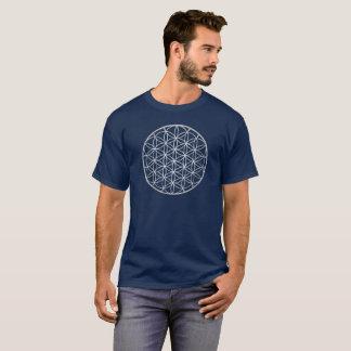 Camiseta Flor de prata de homens sagrados da geometria da