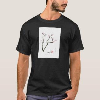 Camiseta flor de sakura e pássaros cor-de-rosa, fernandes