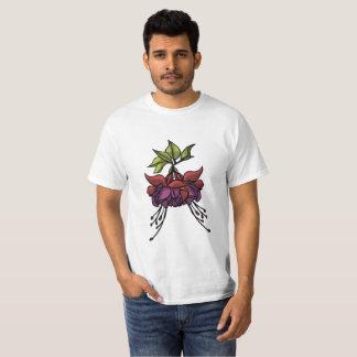 Camiseta flor do coração de sangramento