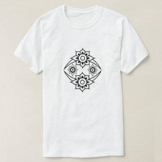 Camiseta Flor do EL Hizb da RUB, branca