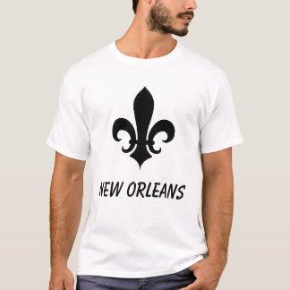 Camiseta Flor do Lilly, Nova Orleães da flor de lis
