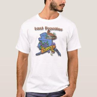 Camiseta Flor do pássaro da fronteira de Alaska última