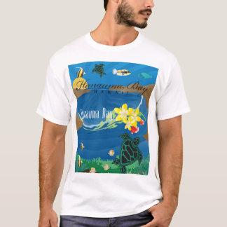 Camiseta Flor do Plumeria de Havaí da baía de Hanauma