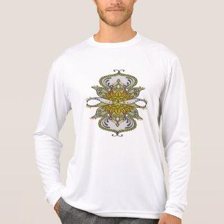 Camiseta flor étnica abstrata
