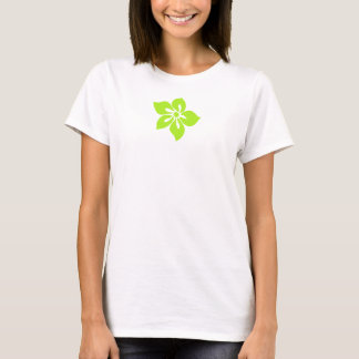 Camiseta Flor feliz do Hawaiian do hibiscus
