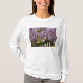 Camiseta Flor - glicínia - uma casa do meus próprios