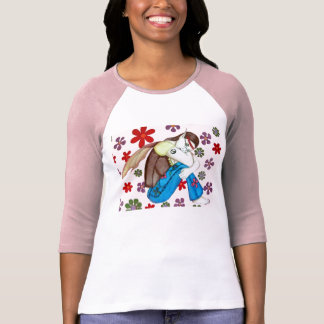 Camiseta Flor, o país das fadas do hippy