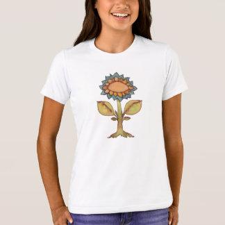 Camiseta Flor - pintura da aguarela