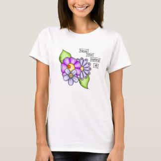 Camiseta Flor positiva do Doodle do pensamento do prazer da
