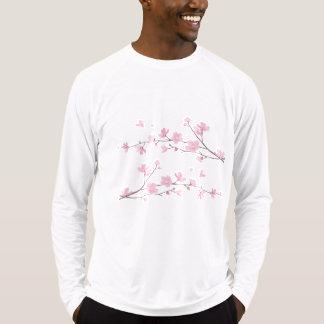 Camiseta Flor-Prata oriental da Flor-Cereja
