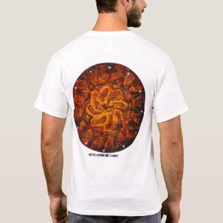 Camiseta Flor quente celta - Tshirt abstrato