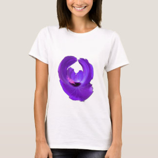 Camiseta Flor roxa 201711h do abstrato do hibiscus