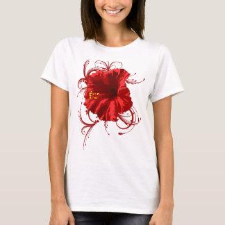 Camiseta Flor vermelha