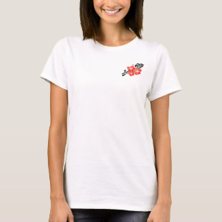 Camiseta Flor vermelha do hibiscus de Havaí