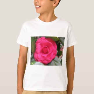 Camiseta Flor vermelha do japonica Rachele Odero da camélia