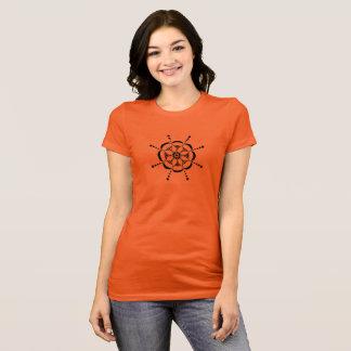 Camiseta Floral modelado