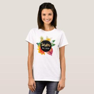 Camiseta Floral tropical da irmã do roteiro do ouro