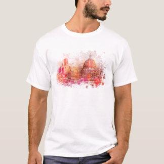 Camiseta Florença - basílica do santo Mary da flor