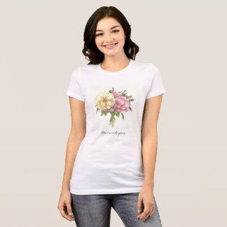 Camiseta Flores, aguarela, t-shirt branco