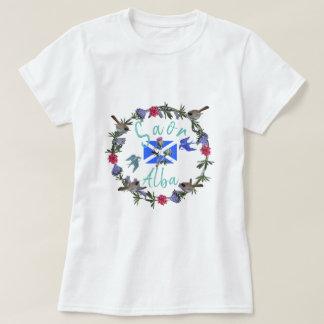 Camiseta Flores albas e pássaros de Saor da independência