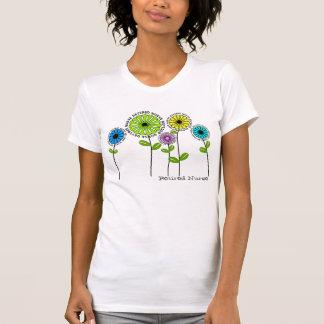 Camiseta Flores artísticas aposentadas dos t-shirt da
