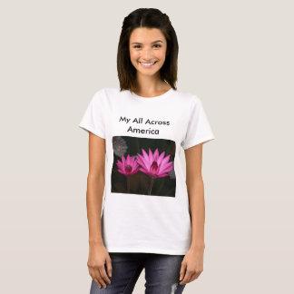 Camiseta Flores através de América