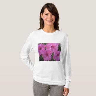 Camiseta Flores cor-de-rosa