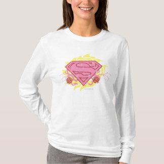Camiseta Flores cor-de-rosa de Supergirl