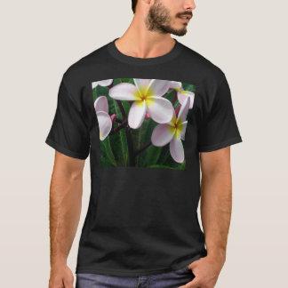 Camiseta Flores cor-de-rosa e amarelas doces do Plumeria