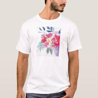 Camiseta Flores da aguarela