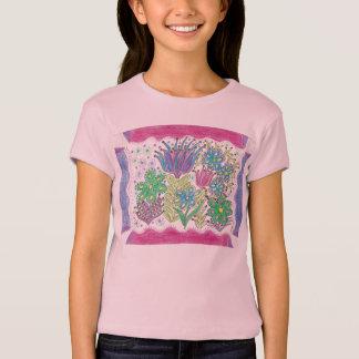 Camiseta flores da fantasia do veverka