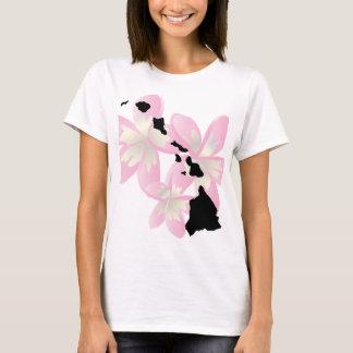 Camiseta Flores das ilhas de Havaí
