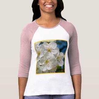 Camiseta Flores de cerejeira brancas, primavera