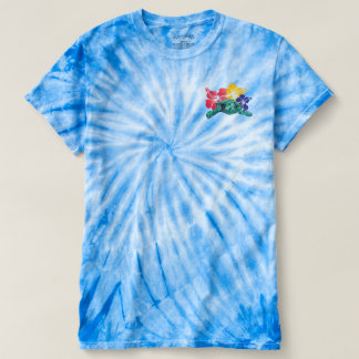 Camiseta Flores de Havaí e uma tartaruga