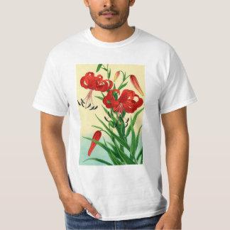 Camiseta Flores de Shin Hanga dos lírios de tigre de