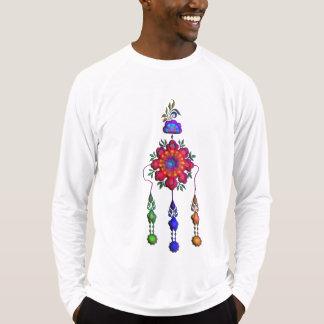 Camiseta flores de suspensão coloridas