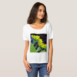 Camiseta Flores do cacto de Texas