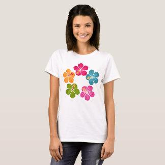 Camiseta Flores do hibiscus