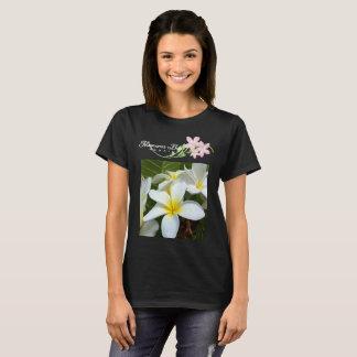 Camiseta Flores do Plumeria de Havaí da baía de Hanauma