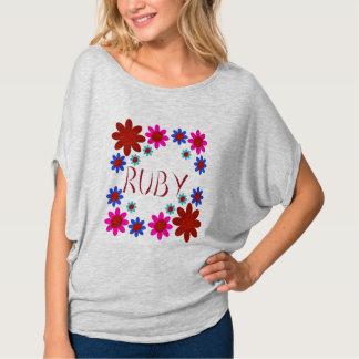 Camiseta Flores do RUBI