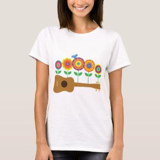 Camiseta Flores do Ukulele