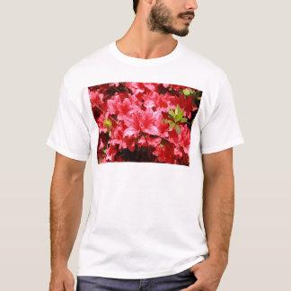 Camiseta flores do vermelho da azálea