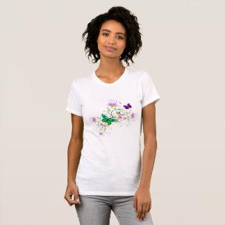 Camiseta Flores do vetor