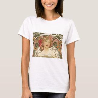Camiseta Flores em seu cabelo