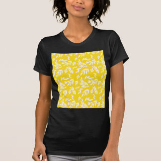 Camiseta Flores no amarelo do mel