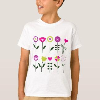 Camiseta Flores populares luxuosas no branco