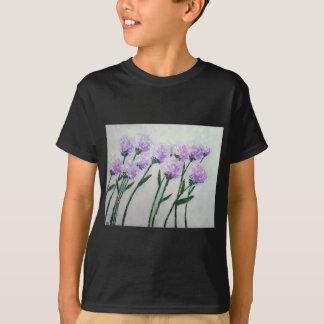 Camiseta Flores roxas